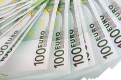 背景欧元一百一个 免版税库存照片