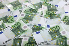 背景欧元一百一个 图库摄影