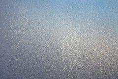背景毛玻璃纹理冬天 免版税库存照片