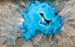 背景水晶geode岩石 免版税库存照片