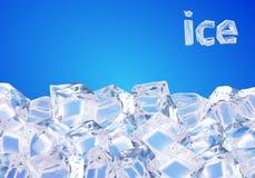 背景求冰的立方 向量例证