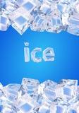 背景求冰的立方 库存例证