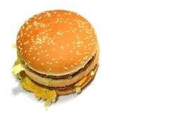 背景汉堡食物图象旧货系列白色 库存图片