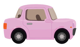 背景汽车庄稼容易地包括路径粉红色导航 向量例证