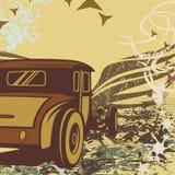 背景汽车旧车改装的高速马力汽车 库存图片
