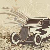 背景汽车旧车改装的高速马力汽车 免版税库存照片