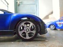 背景汽车查出的玩具白色 免版税库存图片