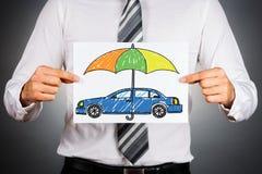 背景汽车概念保险查出在白色 库存照片