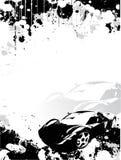 背景汽车海报 库存例证