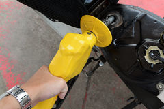 背景汽车详细资料燃料查出的泵白色 免版税库存图片