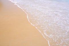 背景沙子海运纹理 免版税库存图片