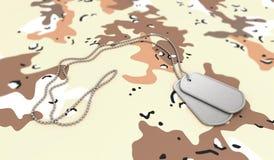 背景沙漠卡箍标记 免版税库存照片