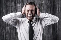 背景沮丧的情感人重点白色 免版税库存图片