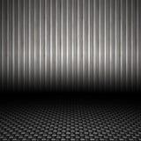 背景波纹状的金属 库存照片