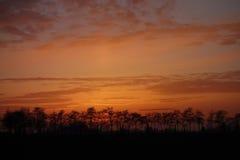 背景波罗的海日落 库存照片