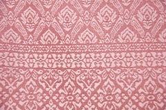 背景泰国织品的丝绸 图库摄影