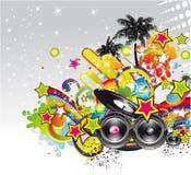 背景活动传单音乐海报 向量例证
