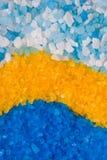 背景浴五颜六色的盐 免版税图库摄影
