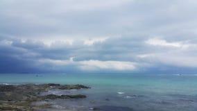 背景海和天空 免版税图库摄影