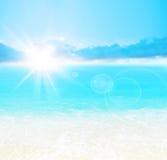 背景海滩蓝色 图库摄影