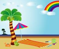 背景海滩 向量例证