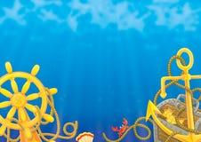背景海运 免版税库存图片