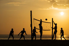 背景海滩查出的排球白色 库存图片