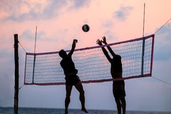 背景海滩查出的排球白色 免版税库存图片