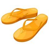 背景海滩触发器例证查出的凉鞋设置了向量空白 免版税库存图片