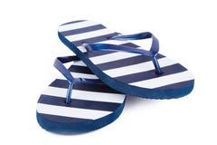 背景海滩触发器例证查出的凉鞋设置了向量空白 免版税库存照片