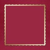 背景深紫红色邀请明信片 库存图片