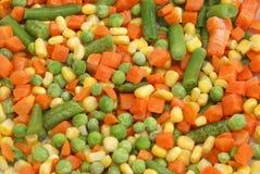 背景混杂的蔬菜 库存照片