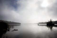 背景湖 库存图片