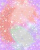 背景满天星斗粉红色的闪闪发光 库存图片
