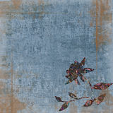背景漂泊花卉grunge剪贴薄挂毯葡萄酒 免版税库存图片