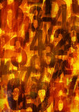 背景火热的编号 免版税库存照片