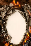 背景灼烧的纸张 免版税库存图片