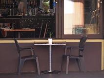 背景照片餐馆表 免版税库存照片