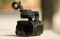 背景照相机专业视频白色 库存图片