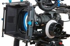 背景照相机专业视频白色 免版税图库摄影