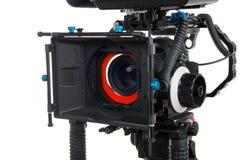 背景照相机专业视频白色 图库摄影