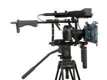 背景照相机专业视频白色 库存照片