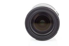 背景照相机前面查出的透镜视图白色 免版税图库摄影