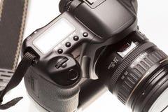 背景照相机剪报dslr查出的路径白色 免版税库存图片