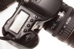 背景照相机剪报dslr查出的路径白色 库存图片