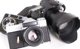 背景照相机照片白色 库存图片