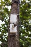 背景照相机cctv高例证查出质量白色 库存图片
