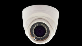 背景照相机cctv高例证查出质量白色 免版税库存照片
