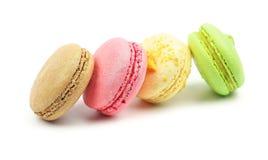 背景特写镜头纤巧法国蛋白杏仁饼干甜种类白色 免版税库存图片