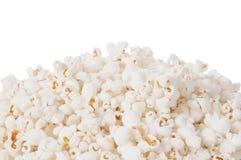 背景玉米花白色 免版税库存图片